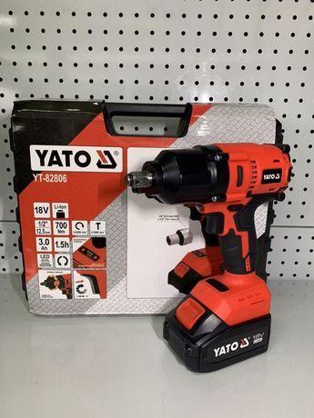 Аккумуляторный бесщеточный гайковерт 700 Нм YATO YT-82806 Польща!