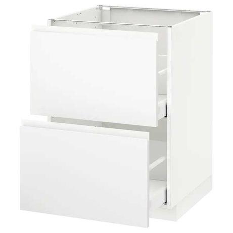 Armário de Cozinha com 2 Gavetas Branco Mate Voxtorp IKEA