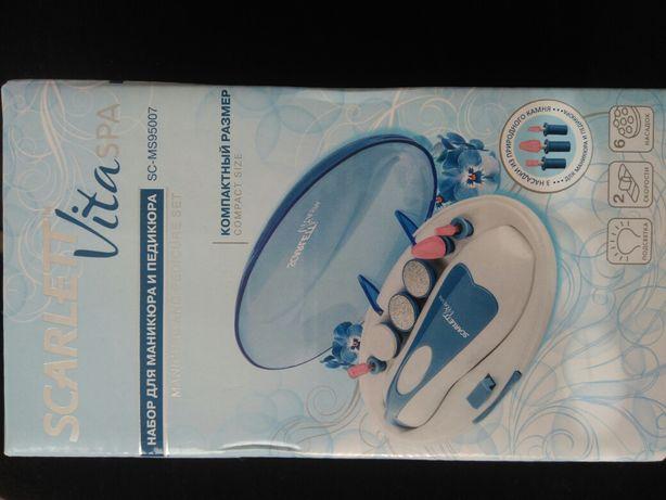 Nowy zestaw do manicure i pedicure 6 końcówek Scarlett Vita Spa