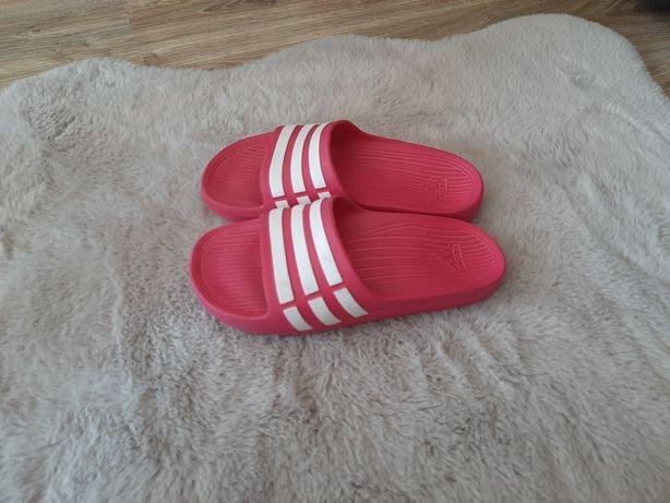 Klapki adidas gumowe basen różowe