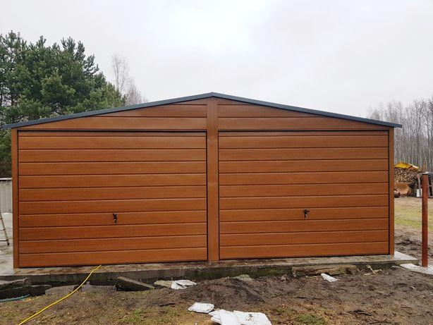 Garaże blaszane PREMIUM drewnopodobne  wysoka jakość!