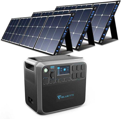 gerador solar 2000W Estação energia portátil painel solar incluído Kit