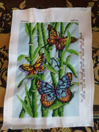 """Картина бісером """"Метелики"""""""