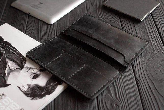 Кошелёк, портмоне мужской кожаный классический