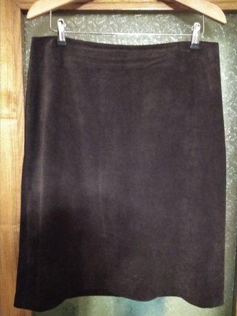 юбка из натуральной замши