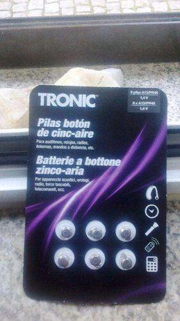baterias pilhas A13 PR48 1,4 V TRONIC NOVAS