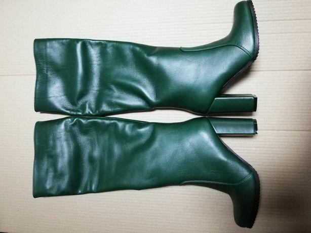 Новые кожаные сапоги ботинки