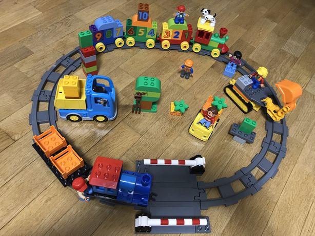 Лего дупло duplo грузовик и экскаватор, поезд, локомотив