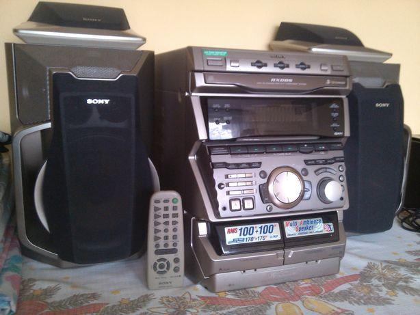 wieża SONY RXD8S, radio RDS, 3xCD