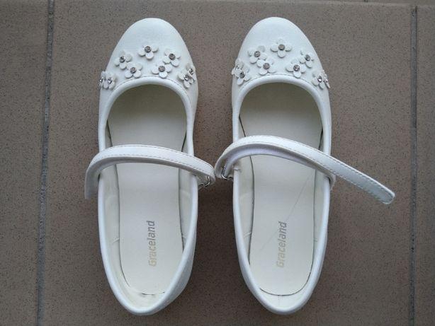 Buty dziewczęce, czółenka komunijne rozmiar 32