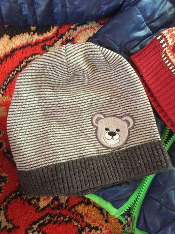 шапка на мальчика 2-3 года шапочка деми 2шт