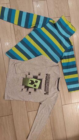 Bluzka tshert długi rękaw roz 128 Minecraft