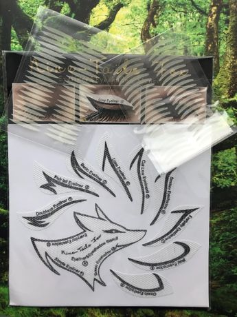 Трафарет для макияжа и прозрачные лифтинг-стикеры для век