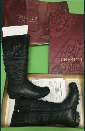 Зимові шкіряні сапоги на хутрі Chester, 38 розмір
