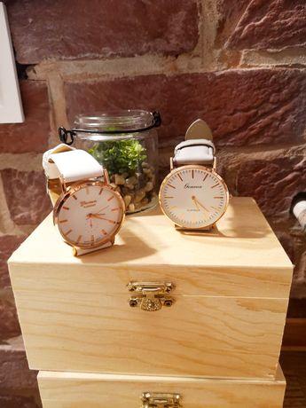 Zegarki biały szary nowe