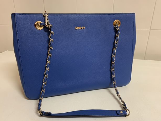 Carteira azul DKNY nova