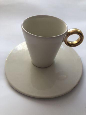 Zestaw do kawy krem zloto nowy Two People designerskie