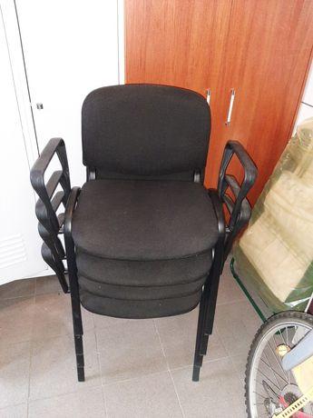 Stołki krzesła biurowe 4 sztuki