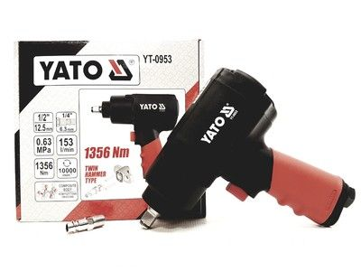 Гайковерт пневматический YATO 1/2 YT-0953 1356 Nm ударный 10000 об/мин