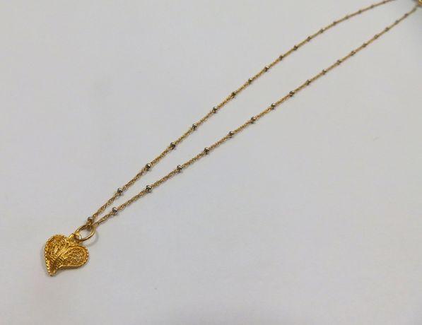 Piękny złoty łancuszek z serduszkiem