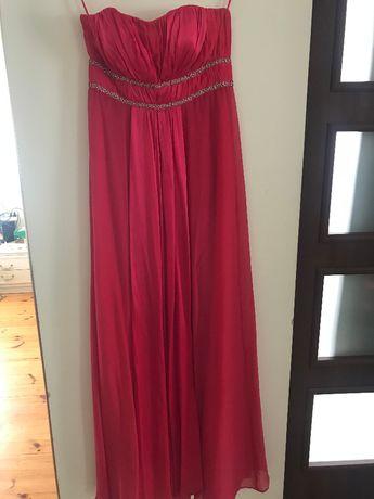 Zjawiskowa wieczorowa sukienka Monsun czerwona roz.36