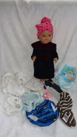 Kolekcjonerska Lalka Baby Born-Interaktywny Pępek+ Akcesoria