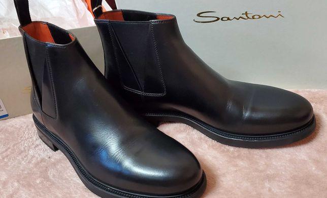 Ботинки женские Santoni, кожанные, новые