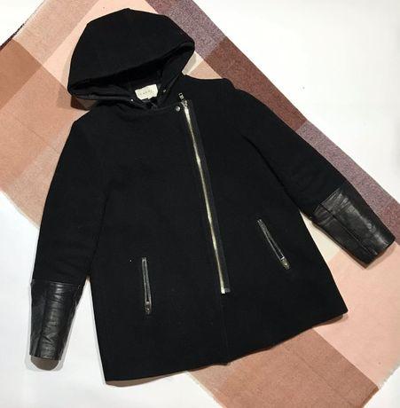 Женское шерстяное короткое пальто sandro paris