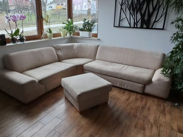 Sprzedam duży narożnik wraz z podnóżkiem Etap Sofa- do negocjacji