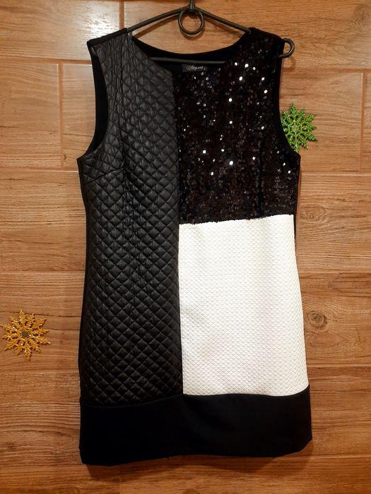 Платье чёрное с пайетками р.42-44 Сарата - изображение 1