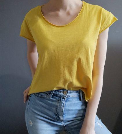 Żółta, przewiewna koszulka