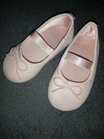 Balerinki h&m różowe 18 19 jak nowe twarda podeszwa buciki 12 cm