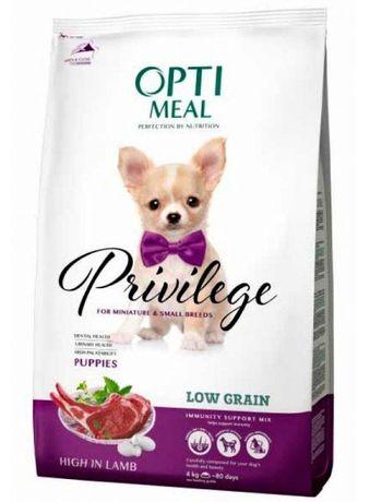 OptiMeal Privilege Adult Small Puppies корм для взрослых собак щенков