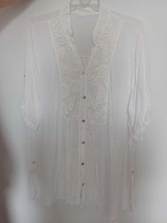 Śliczna włoska biała bluzeczka Xxl