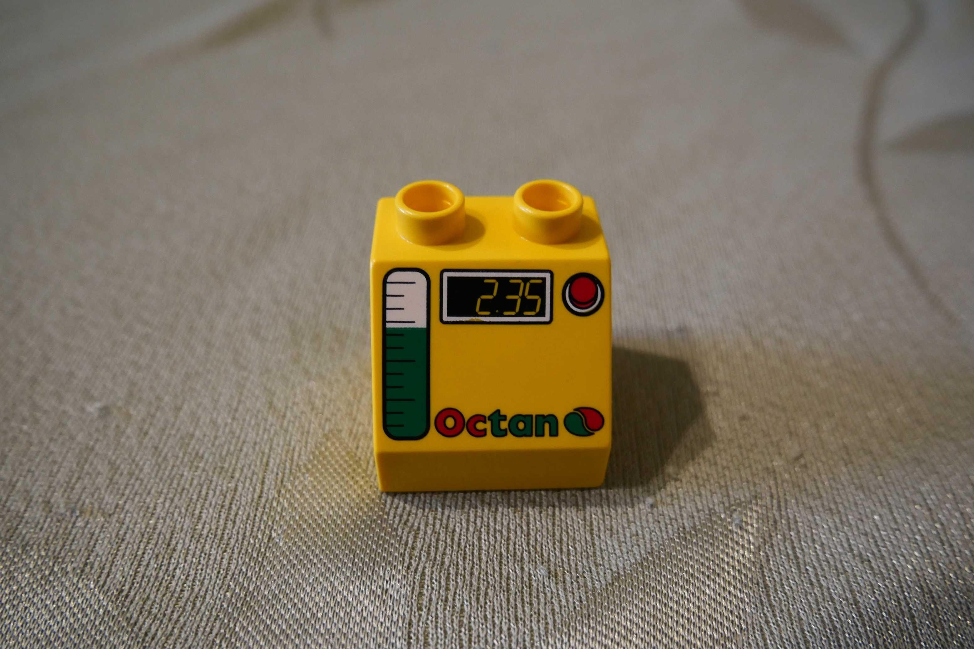 Lego Duplo klocek tematyczny żółty stacja benzynowa paliwo podziałka