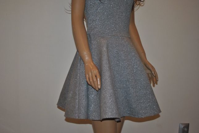 SMoriss sukienka srebrna nitka