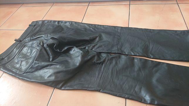 Spodnie skórzane na motor