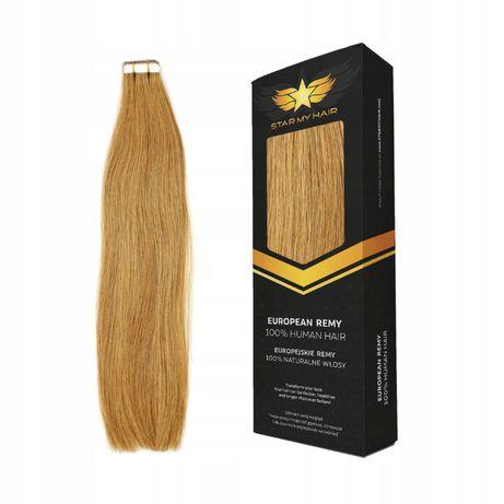 TAPE ON -Metoda Kanapkowa Włosy naturalne KANAPKI 40-45 cm