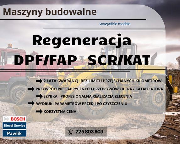 DPF Katalizator SCR *HITACHI* Regeneracja Czyszczenie KOPARKA