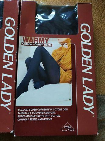"""Новые колготы тёплые, хлопок, """"Голден Леди"""", чёрные, 44 (м), размер"""