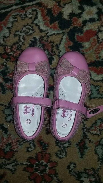 Туфли для девочки. Мешти, туфлі для дівчинки. Балетки. Размер 25