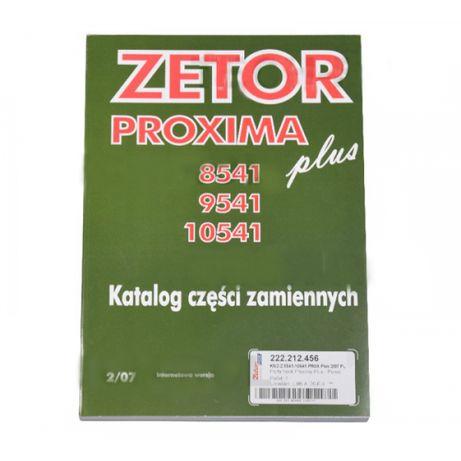 Katalog ZETOR PROXIMA Plus, Modele 8541, 9541, 10541 Oryginał Zetor
