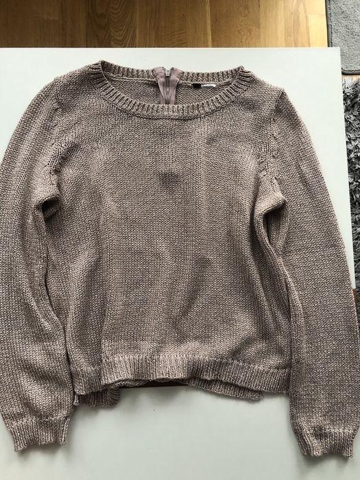 Sweter H&M pudrowy róż ze srebrną nitką Skarżysko-Kamienna - image 1