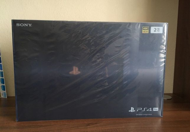 PS4 Pro 500 Million Limited Edition 2TB - Nova e Selada