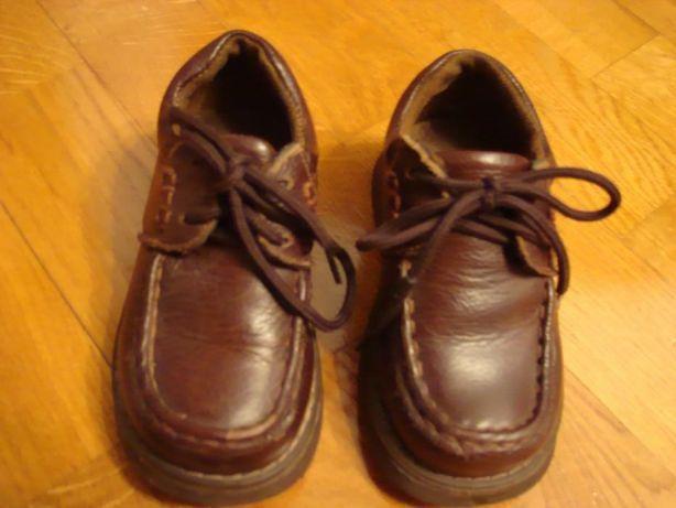 Дитячі шкіряні коричневі туфлі для хлопчика, 24 розмір.