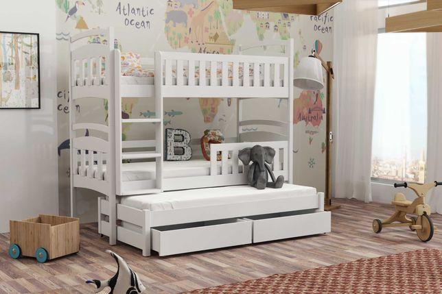 Piętrowe łóżko 3 Osobowe Wojtek! Bezpieczne łóżko dziecięce!