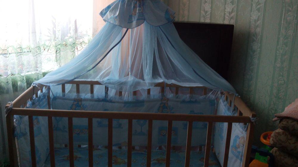 Продам детскую кровать-маятник с матрасом и балдахином Горишные Плавни - изображение 1