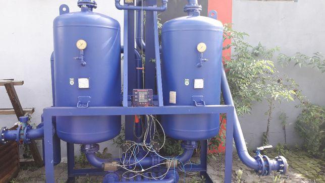 Podwójny zbiornik sprężonego powietrza z osuszaniem