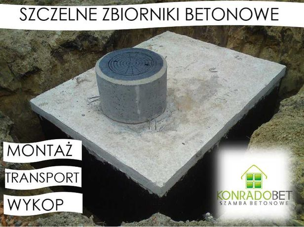 Zbiorniki na szambo, WYKOP, Szamba betonowe Szczelne, Zbiornik Atest