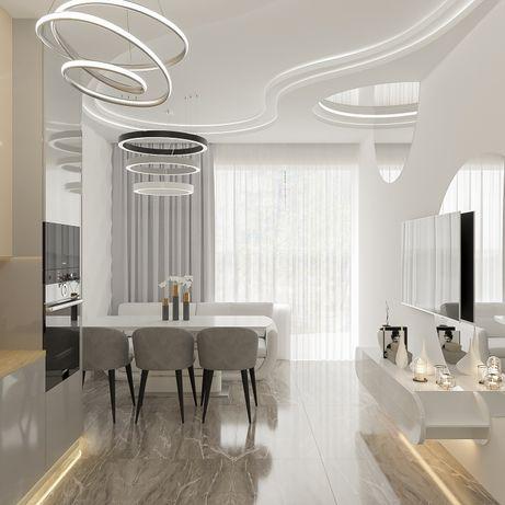 Дизайнер, Дизайн интерьера, 3D визуализация, дизайн-проект Киев.Ремонт